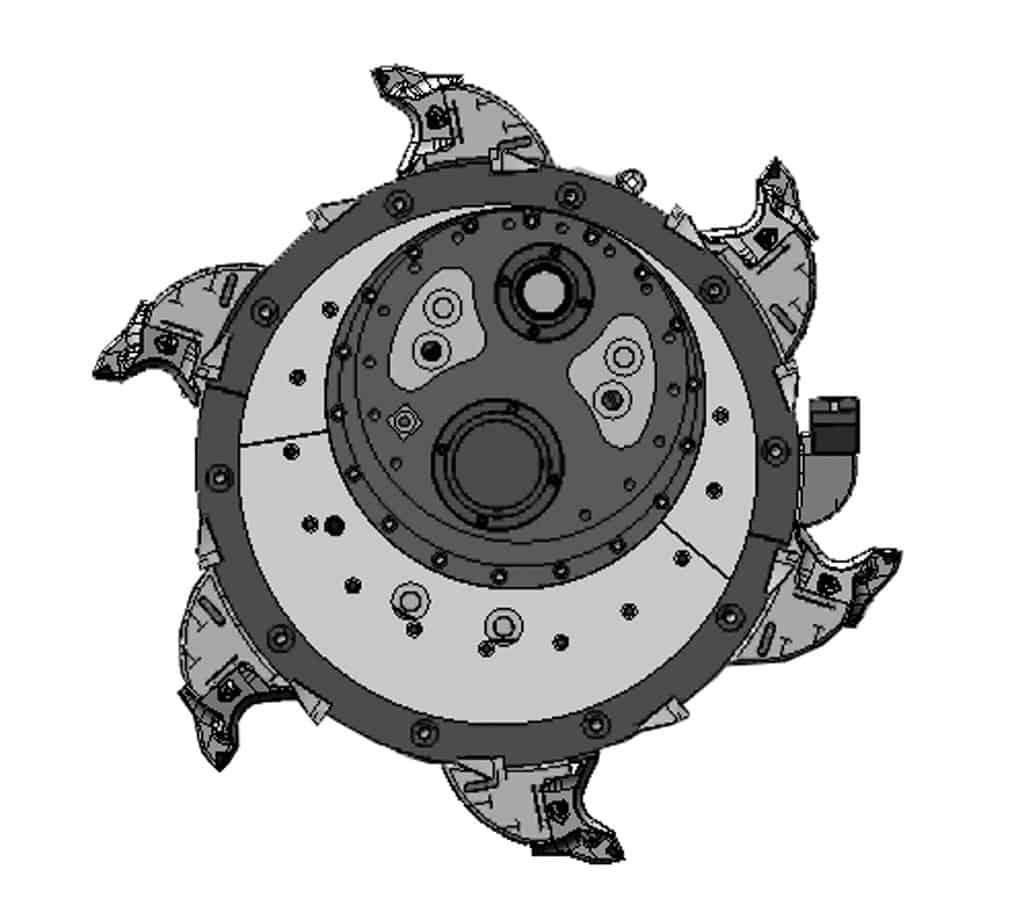 La vista laterale del rotore