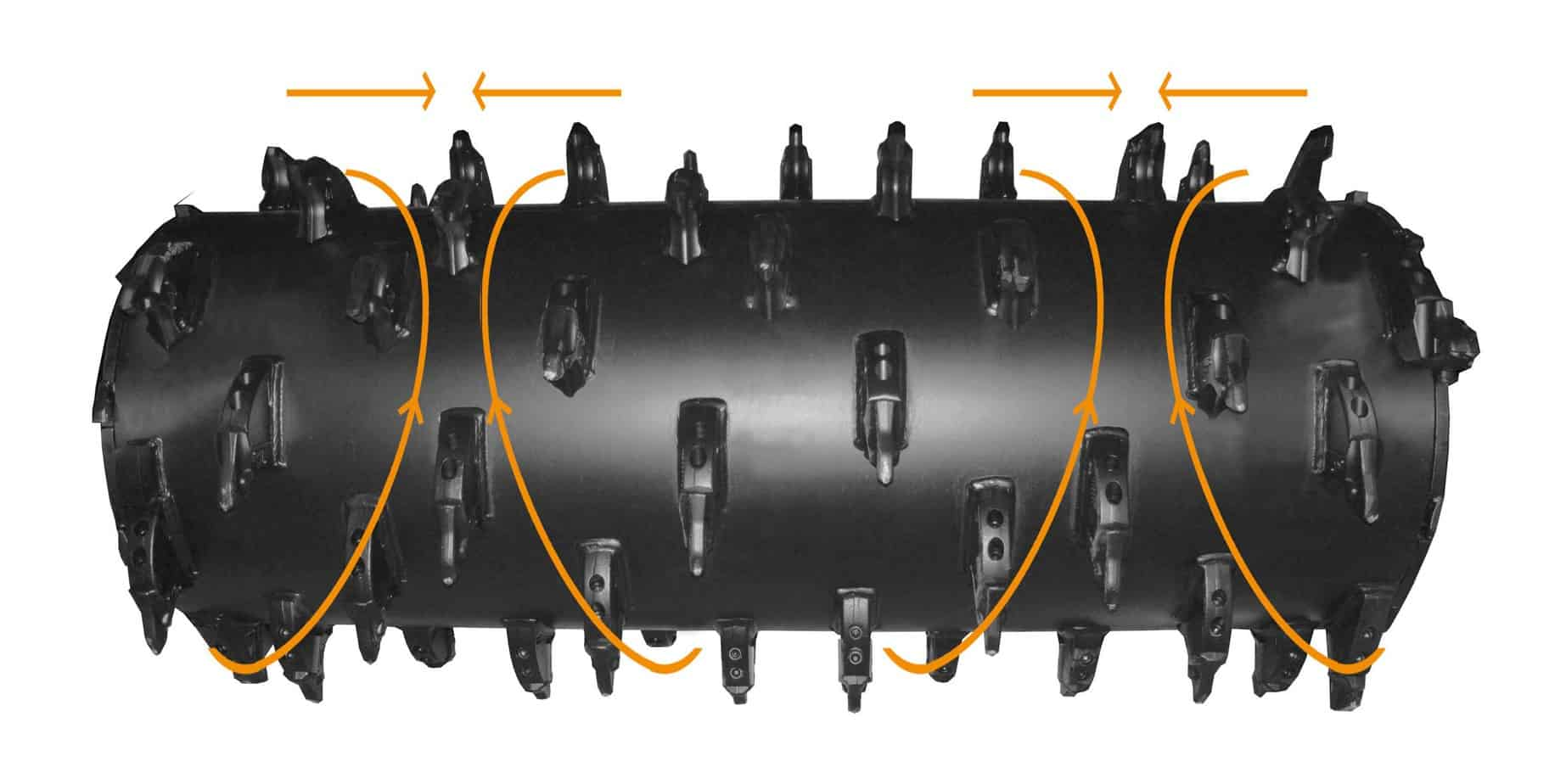 Il rotore a doppia spirale FAE e gli utensili dal design brevettato, unici sul mercato