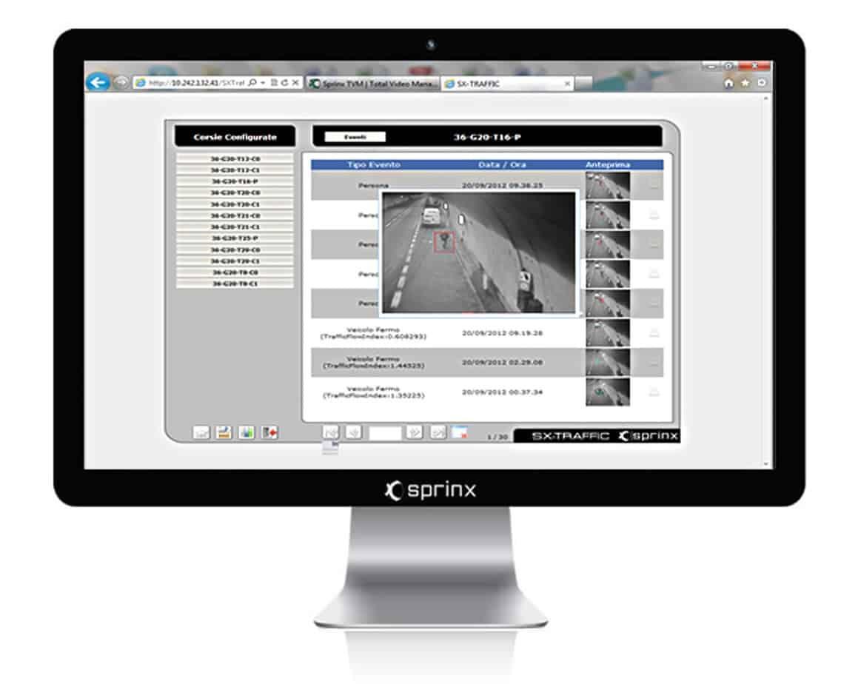 L'interfaccia grafica del software A.I.D. SX-TRAFFIC