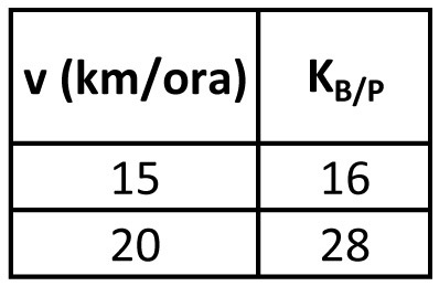 Bicicletta (m = 90 kg)
