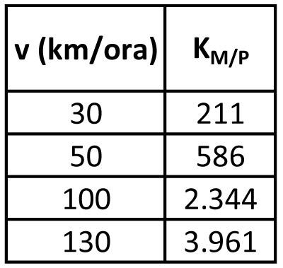 Motocicletta (m = 300 kg)
