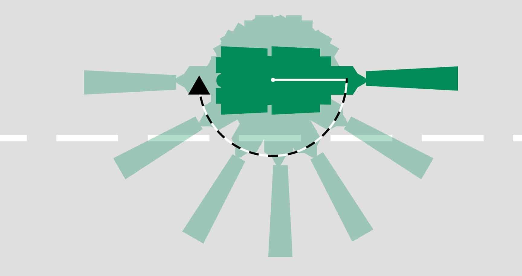 Essendo cingolati, i Power Feeder richiedono un'area di volta molto piccola poiché in grado di invertire il senso di marcia praticamente sul posto