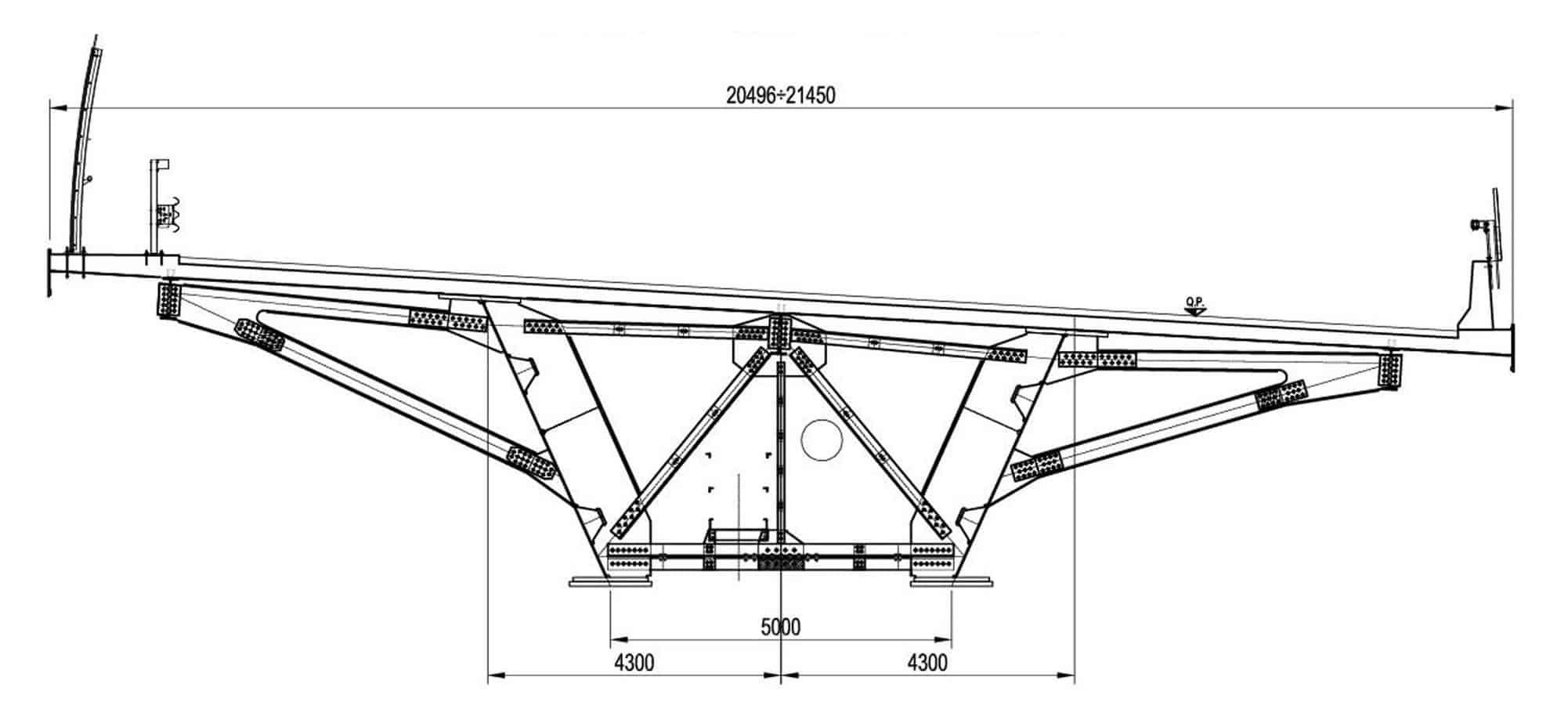 La sezione strutturale degli impalcati della A58: la sezione trasversale VI004