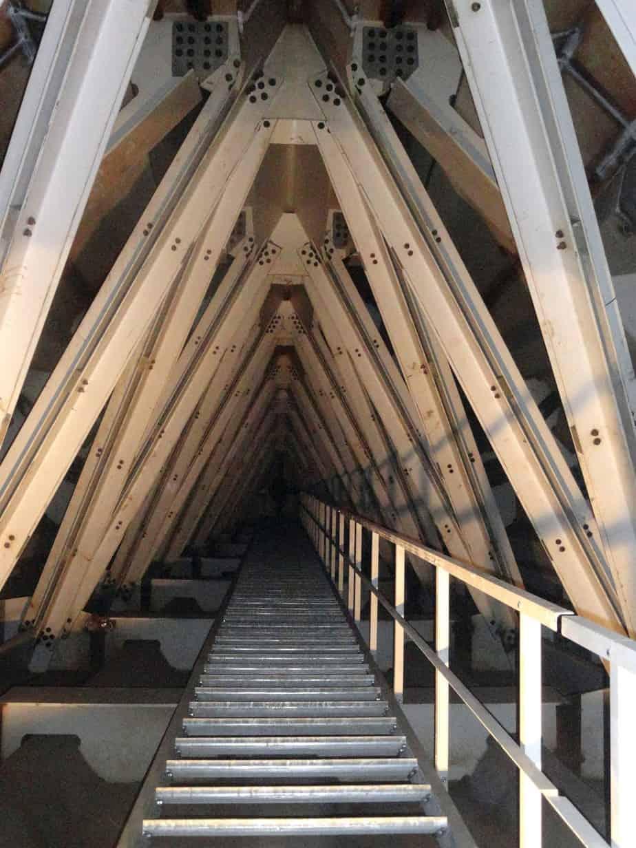 La struttura interna del cavalletto