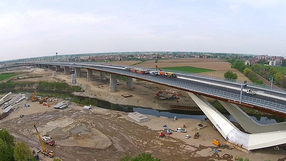 Sulla TEEM, il viadotto Lambro a basso impatto ambientale