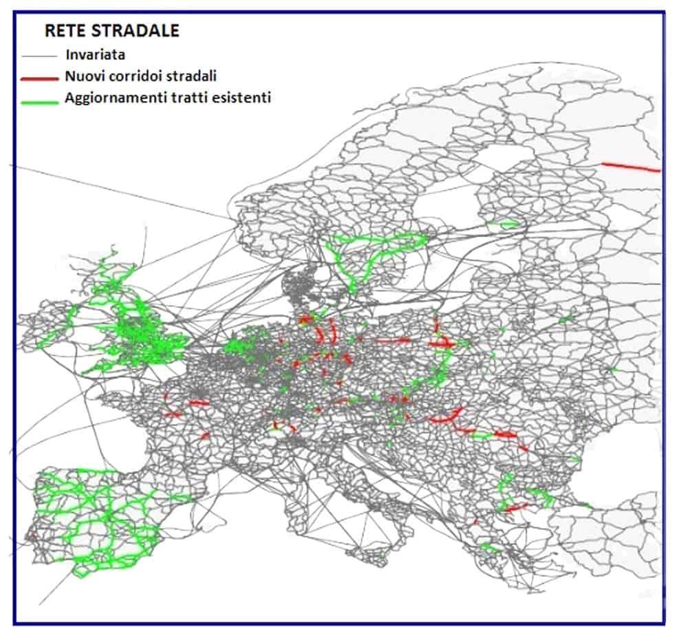 Lo sviluppo della rete stradale transeuropea e regionale