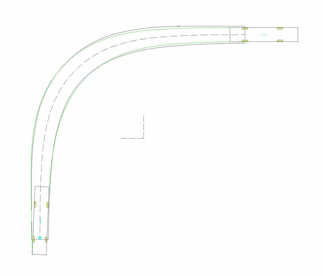 Il caso di studio 3: tornante a unica corsia (b = 3 m, Ri = 15 m)