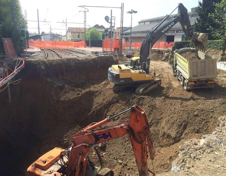 Lo scavo del corpo ferroviario