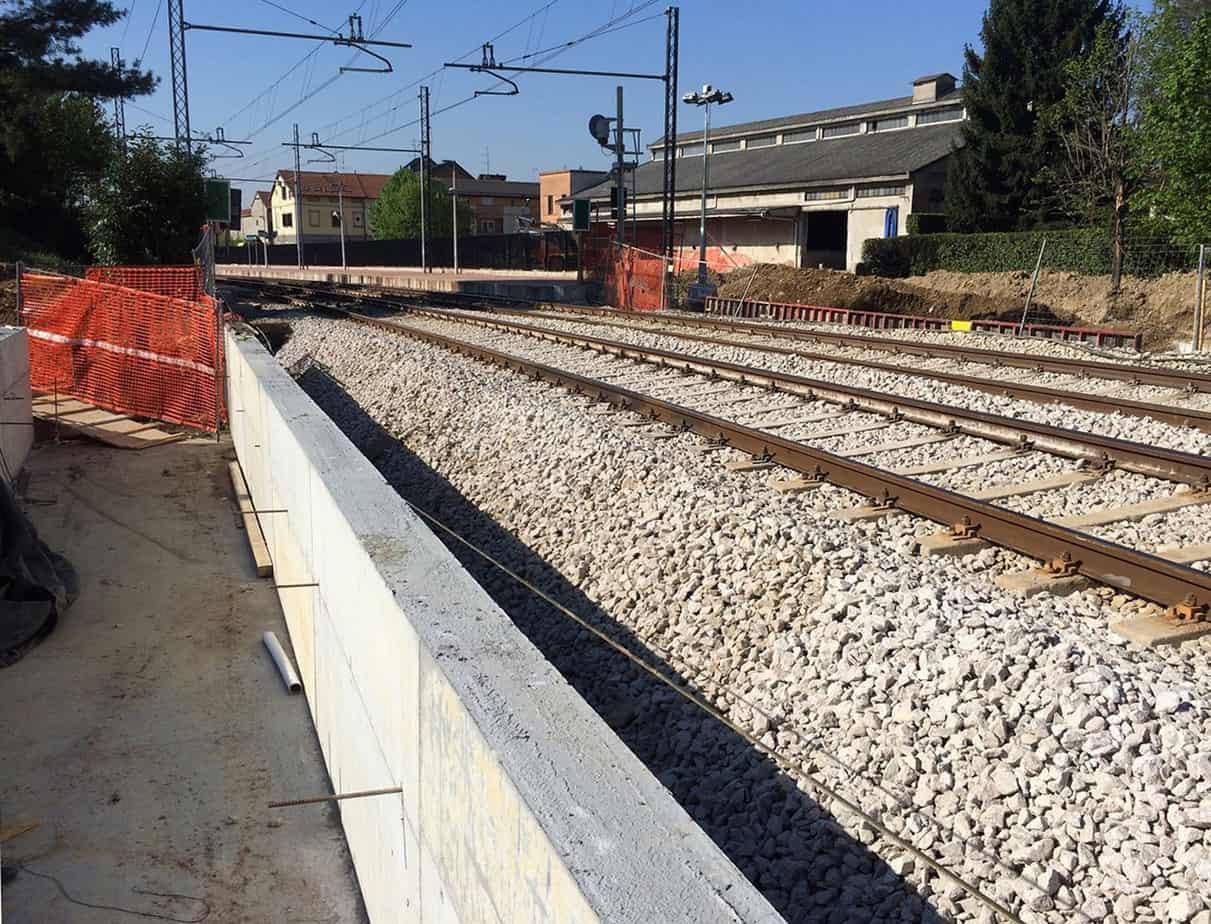 Il ripristino della linea ferroviaria