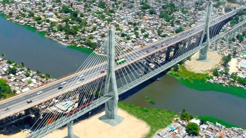 Un ponte strallato per il metrò di Santo Domingo