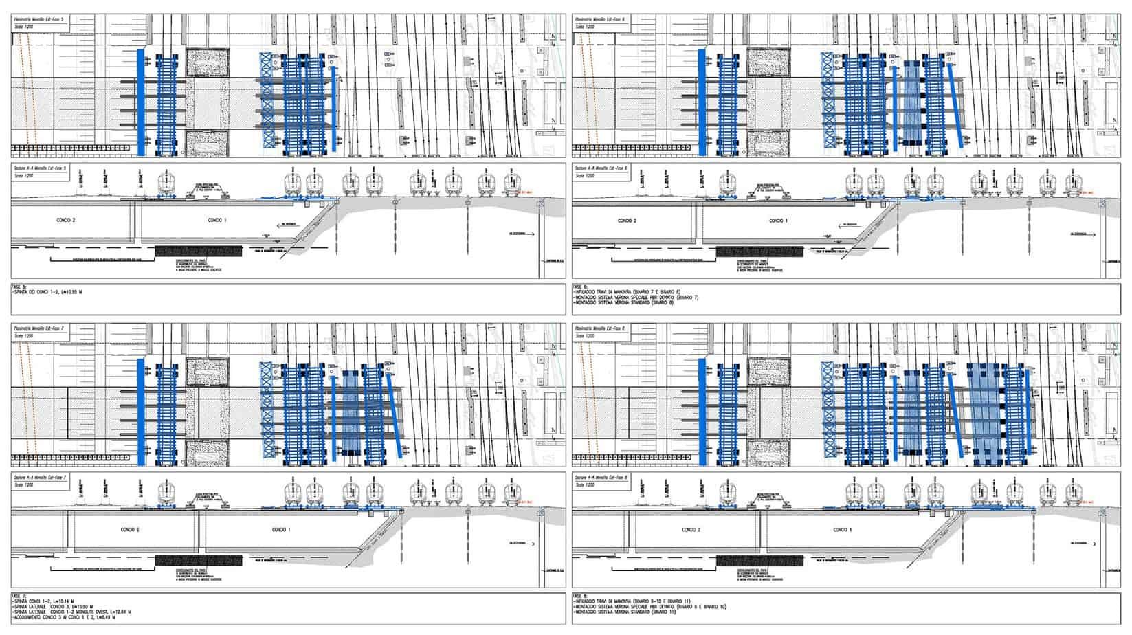 Il progetto delle fasi di varo (monolite Est)