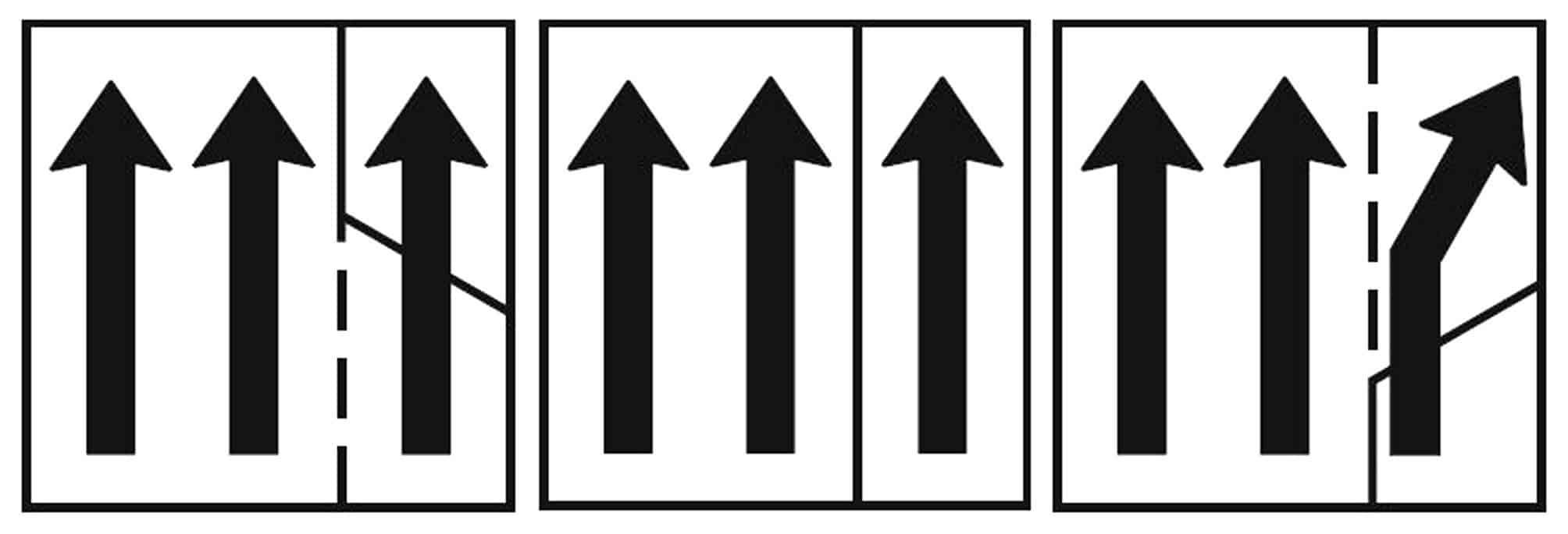 Il segnale di uso corsie (Fig. 4.77.2) utilizzato per la gestione della corsia di emergenza