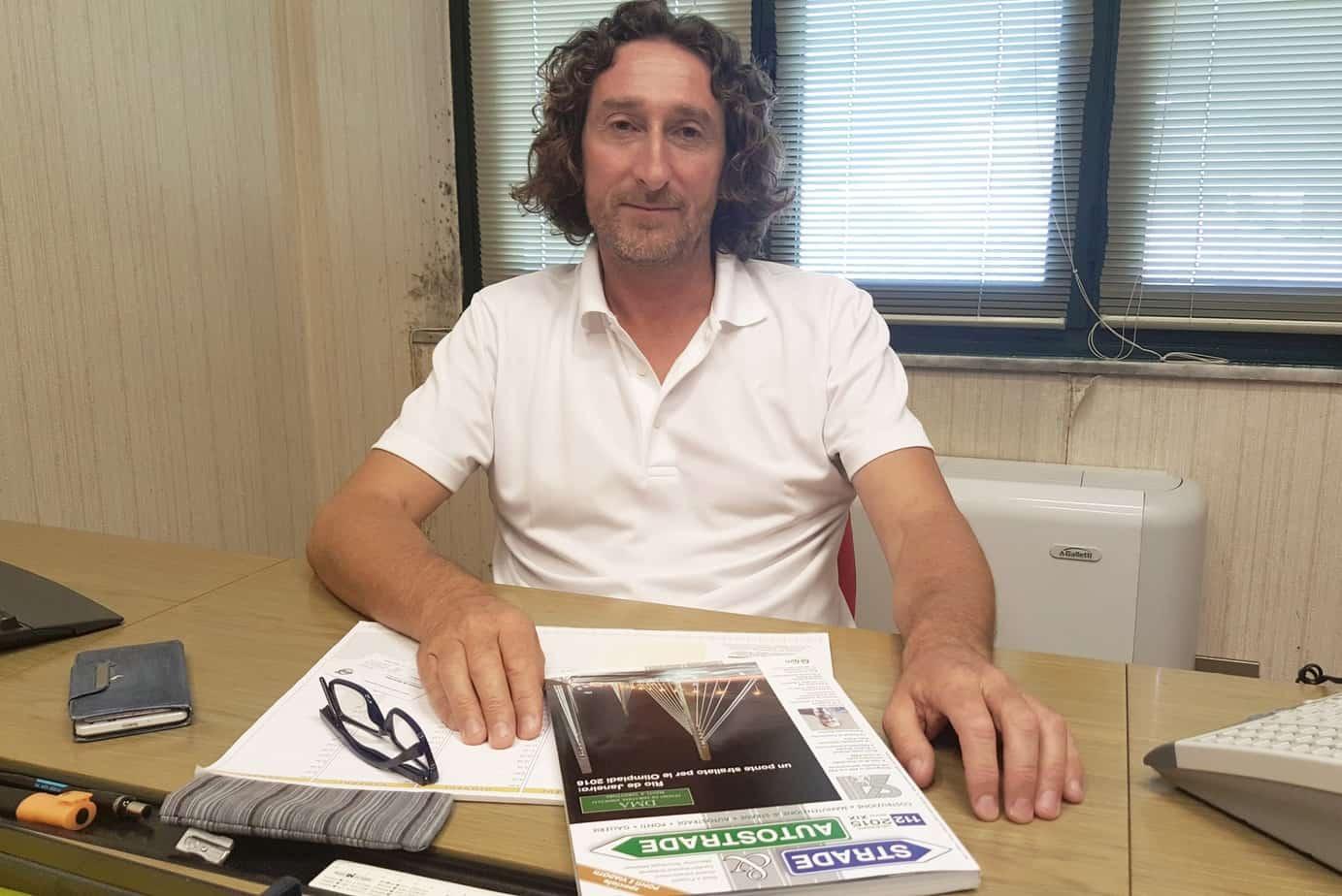 L'Amministratore Delegato, Sig. Marco Bertonelli, della Società Cemenbit Srl di Pietrasanta (LU)