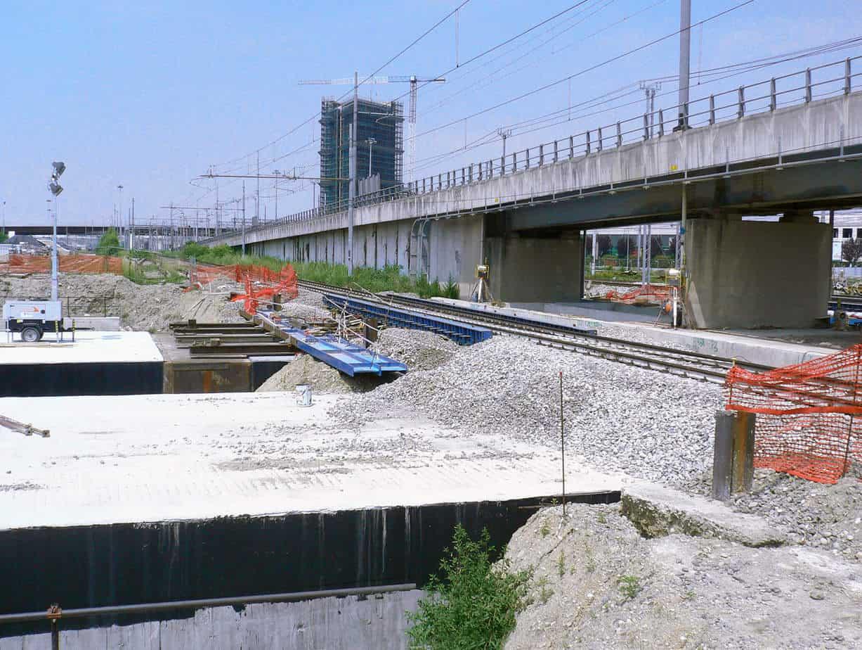 Il ponte Verona in esercizio durante le fasi di spinta
