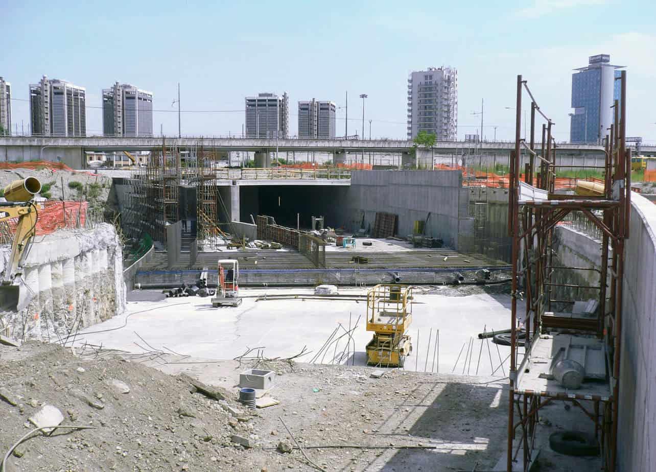 La rampa Sud in costruzione