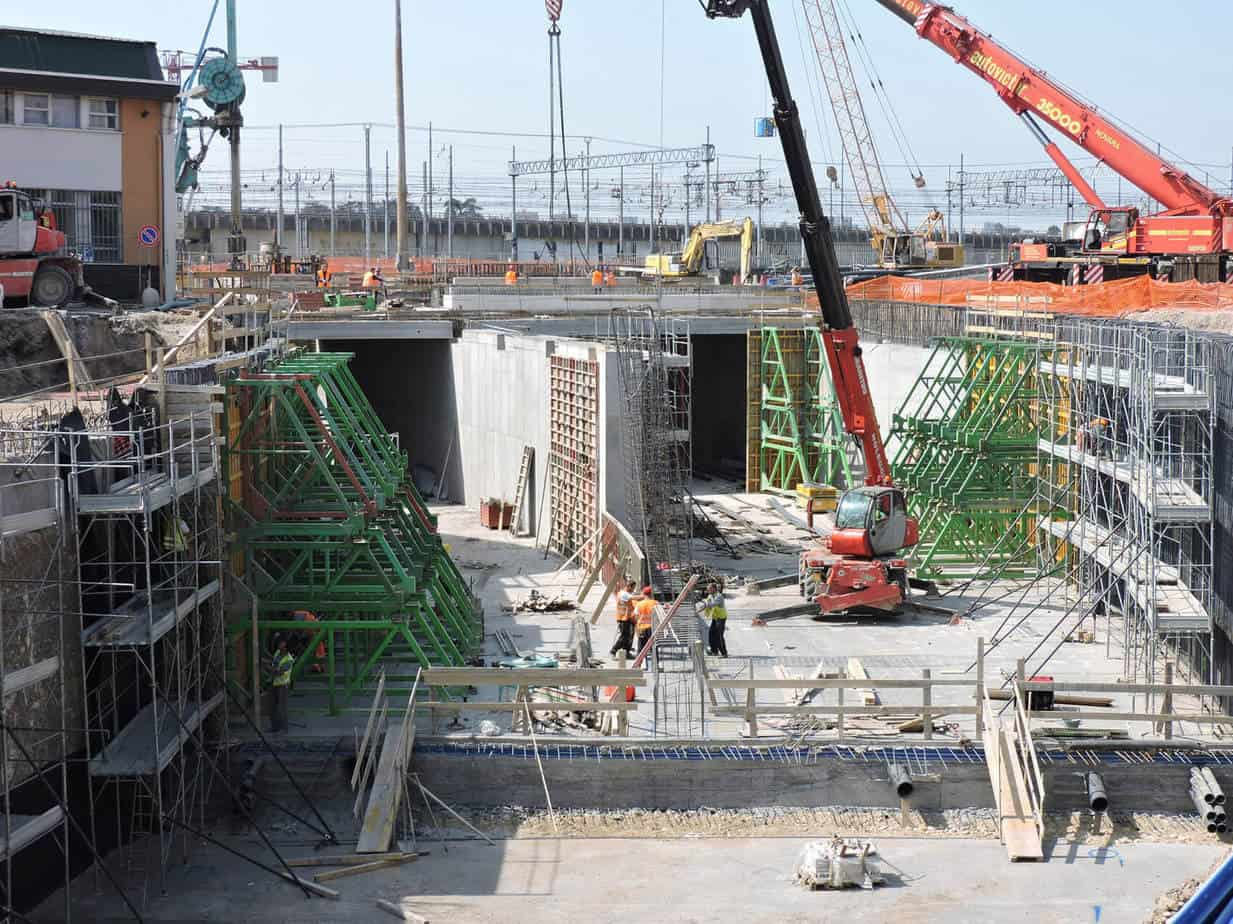 La rampa Nord in costruzione