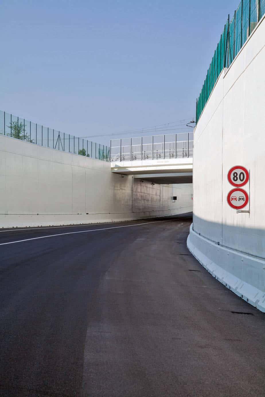 Il sottopasso della linea ferroviaria dine-Cervignano