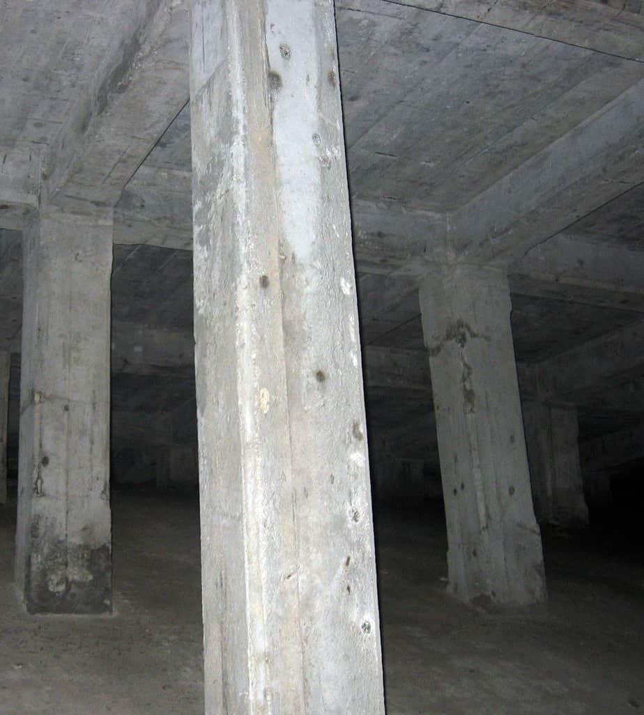 Vista interna del ponte nello stato di fatto