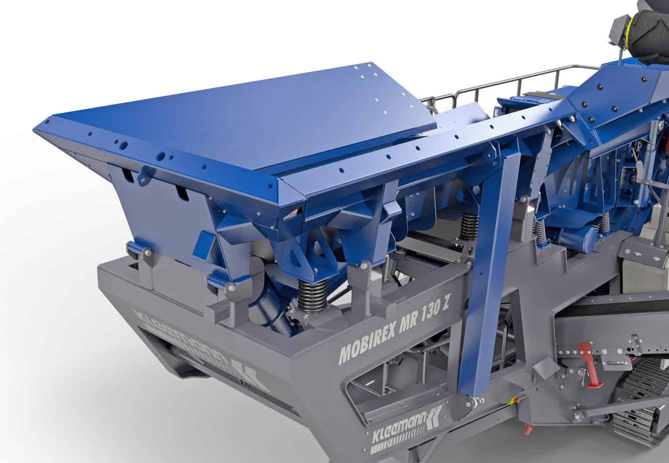 La tramoggia di carico del frantoio Kleemann Mobirex MR110Z/S