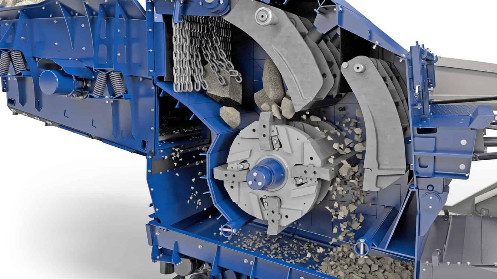 Il robusto rotore del diametro di 1.100 mm e peso di 12.600 kg