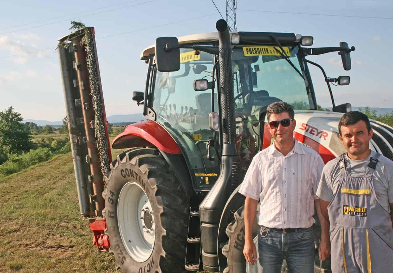 Zvonko Šimunović, Responsabile della Presoflex, con l'operatore