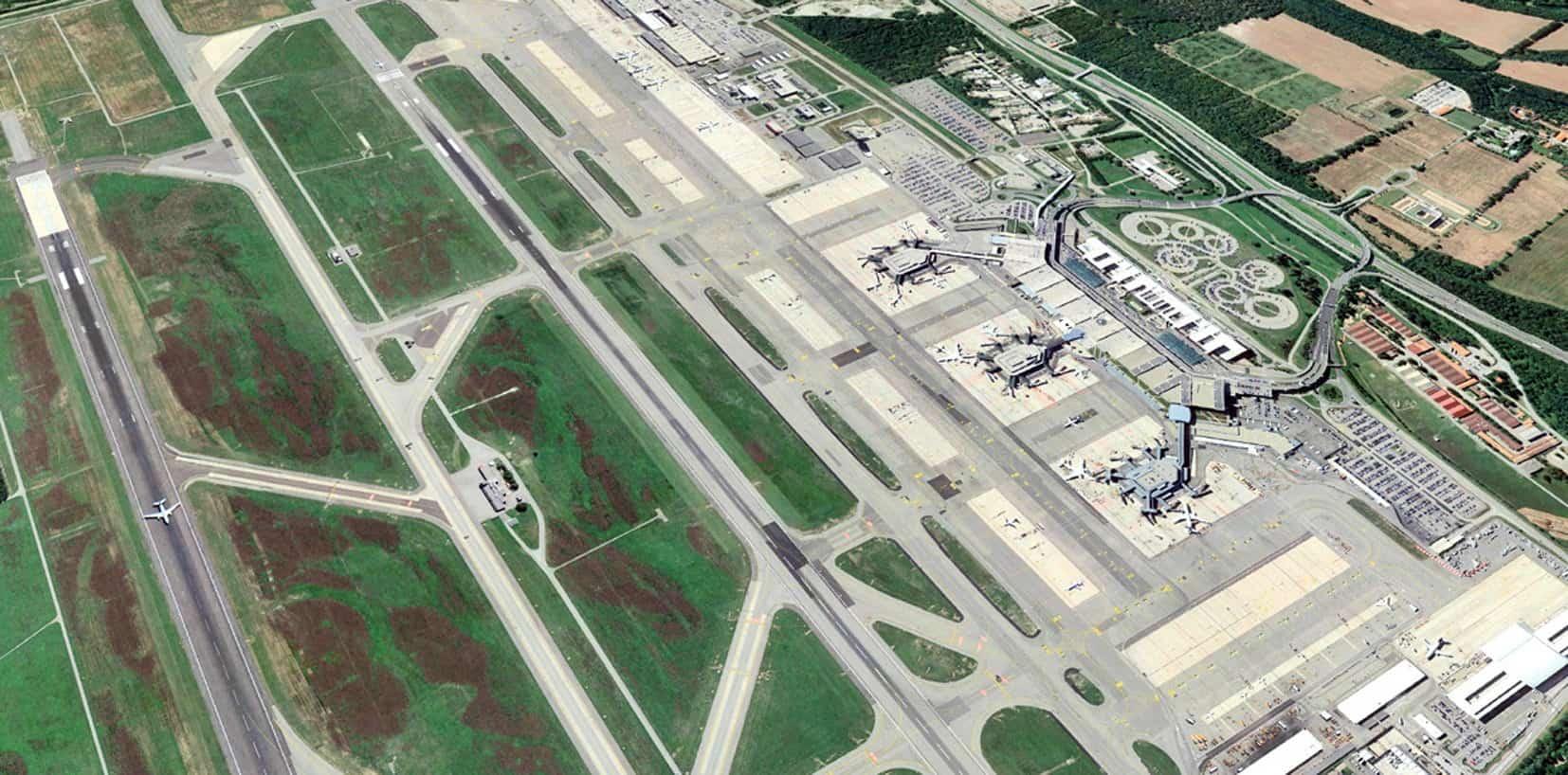 Vista dell'aeroporto di Malpensa