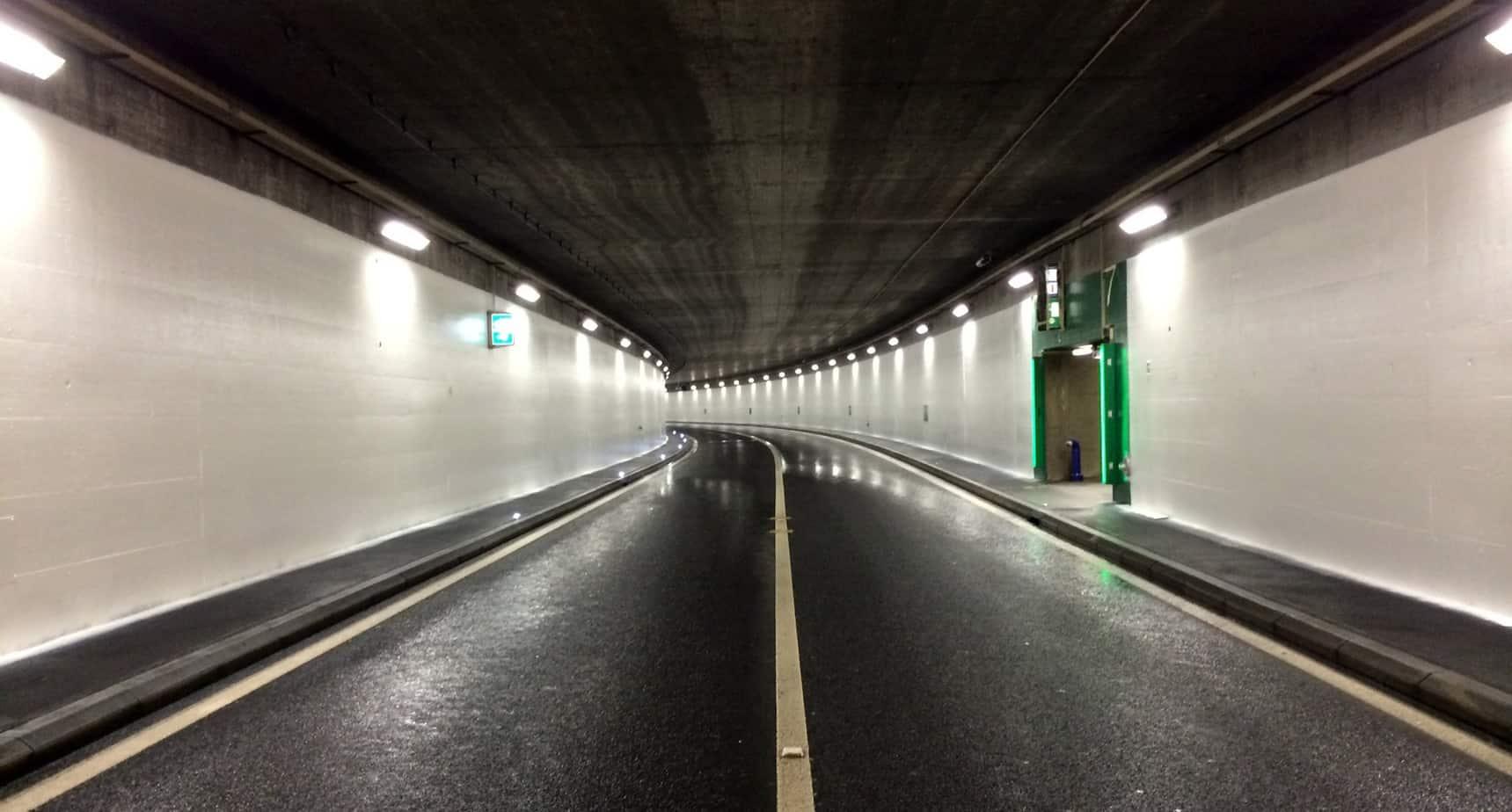 Il risultato finale presso il tunnel Marcolet