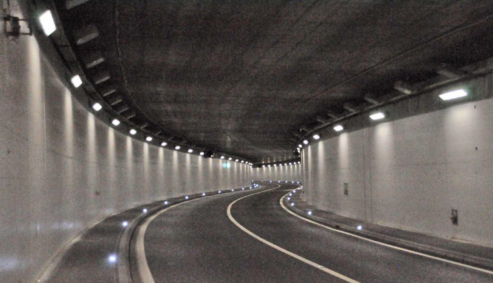 Il tunnel di Marcolet prima dell'intervento di pulizia