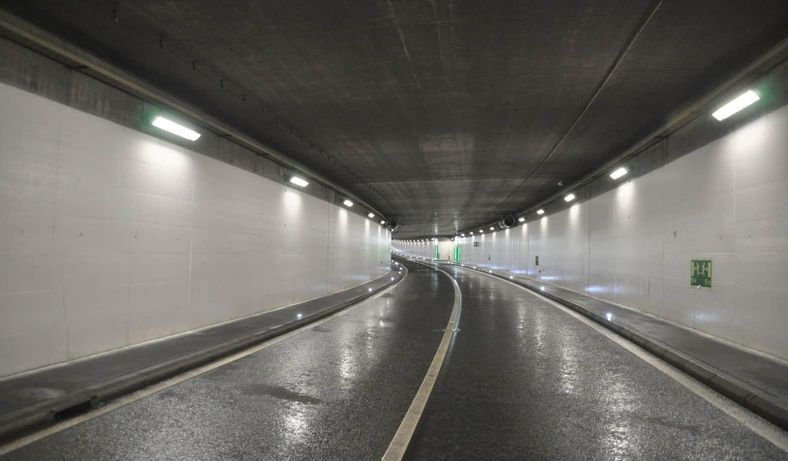 Il tunnel di Marcolet dopo l'intervento di pulizia