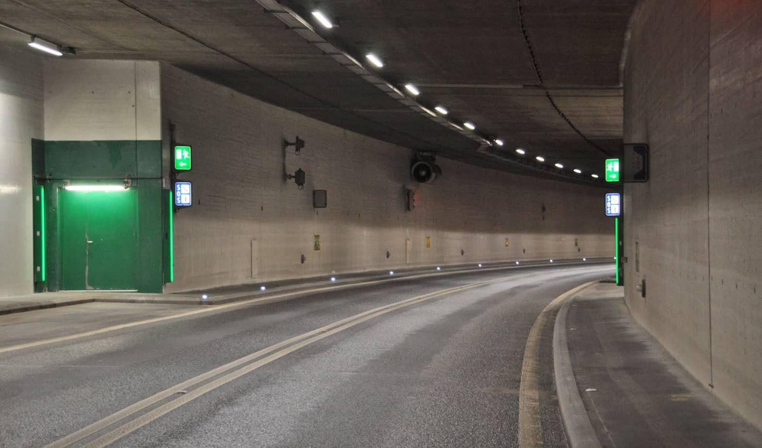 Il tunnel di Cheseaux prima dell'intervento di pulizia