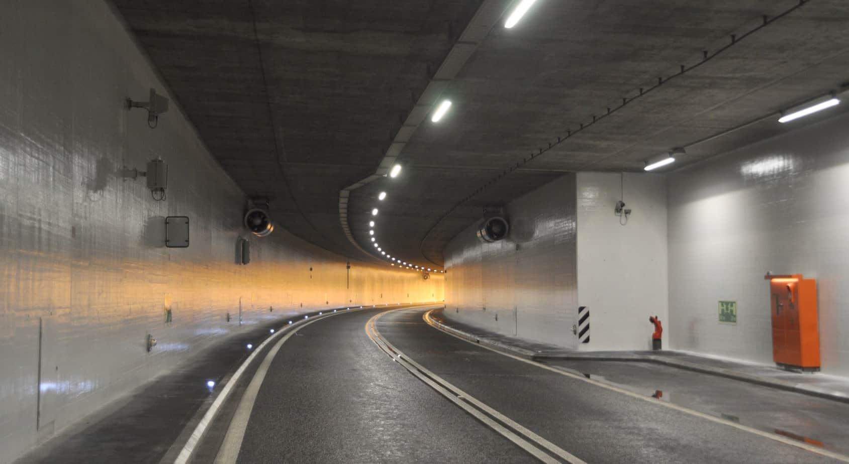 Il tunnel di Cheseaux dopo l'intervento di pulizia