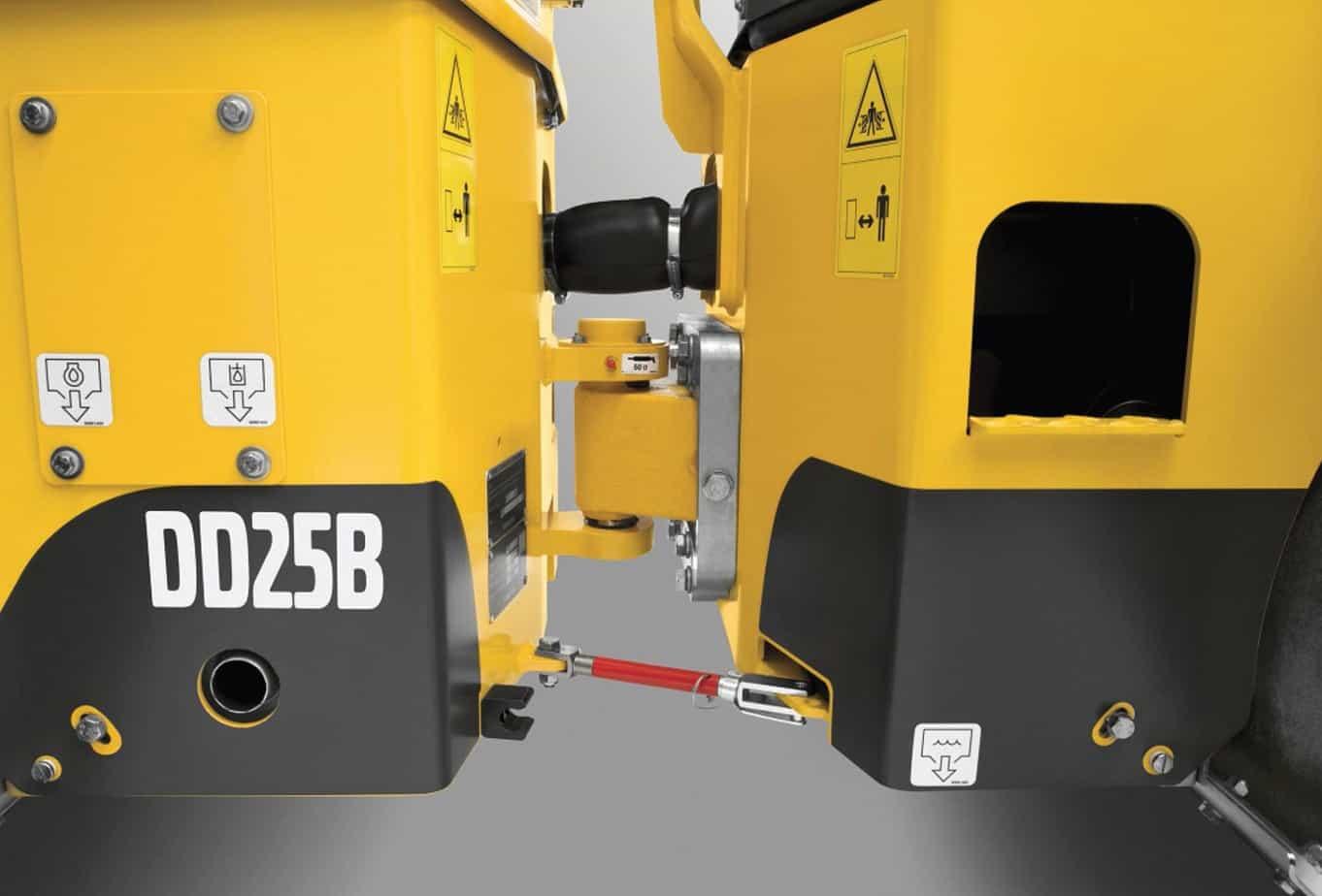 Il rullo Volvo DD25B è uno dei modelli più robusti sul mercato e richiede una manutenzione minima