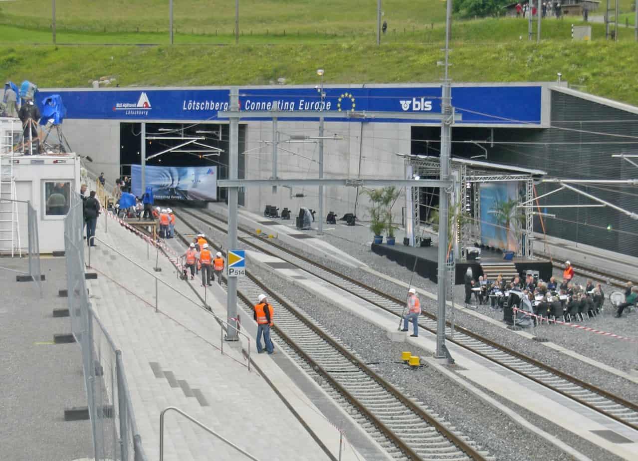 Il traforo di base del Lotschberg, inaugurato nel 2007