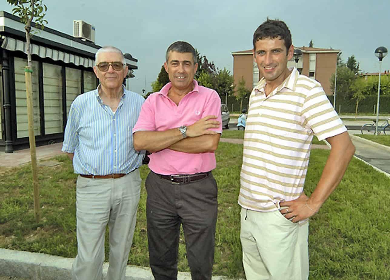 Tre generazioni a confronto: Franco, Luciano e Federico Zanetti