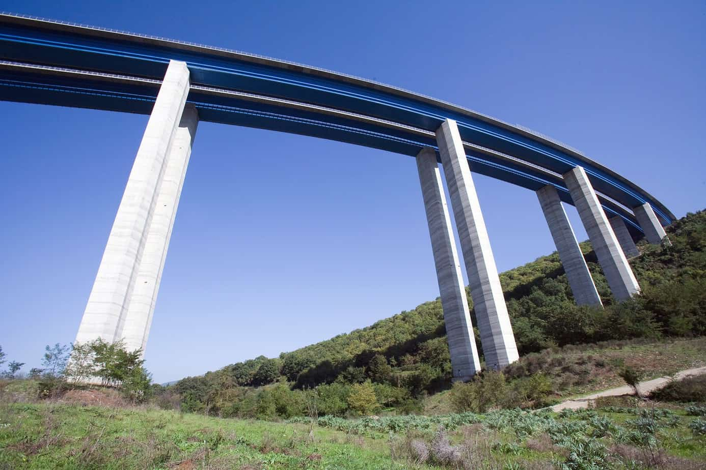 Il viadotto Lontrano sulla A3 Salerno-Reggio Calabria