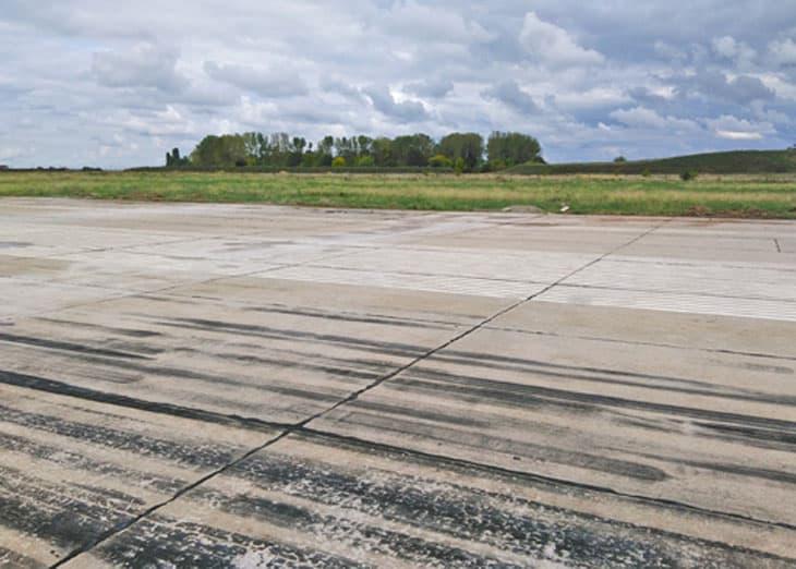 Lo stato della pista prima dei lavori
