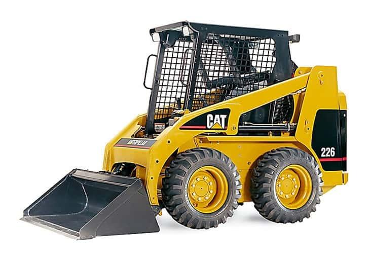 La pala gommata compatta CAT 226 B3