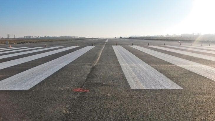 La nuova pavimentazione della pista