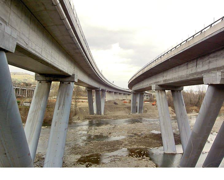 Il viadotto Reno