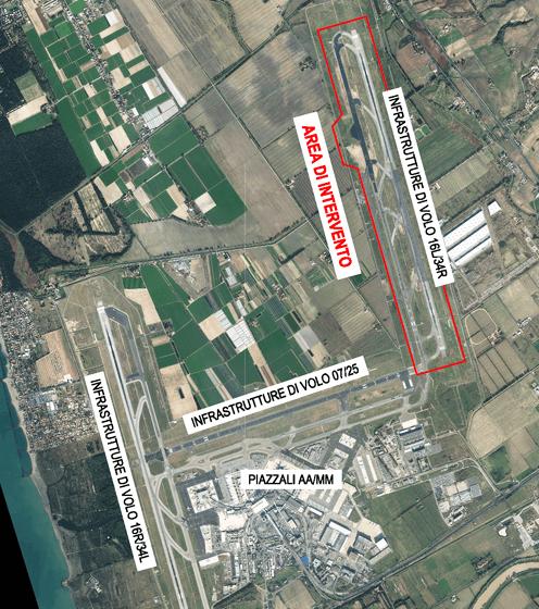 L'aeroporto di Fiumicino (RM)