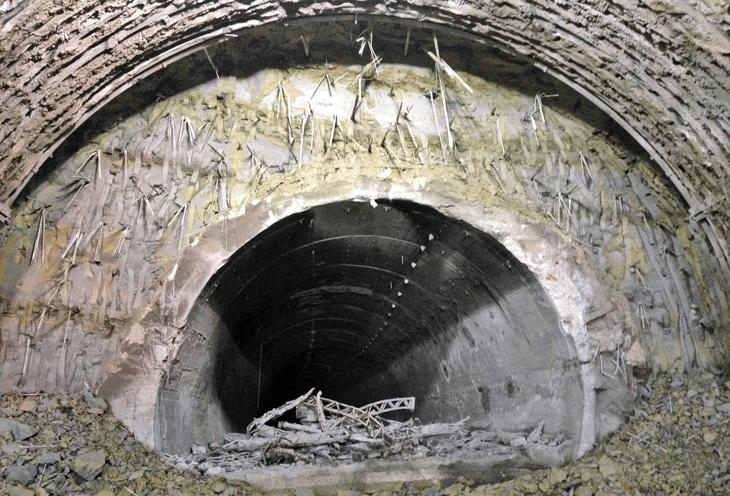 L'allargo delle gallerie esistenti