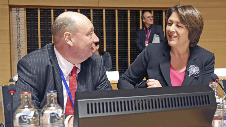 Henrik Hololei e Violeta Bulc, Commissario Europeo ai Trasporti