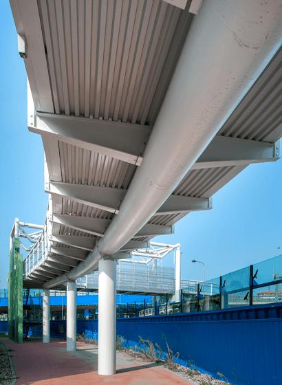 La struttura principale della pista ciclopedonale