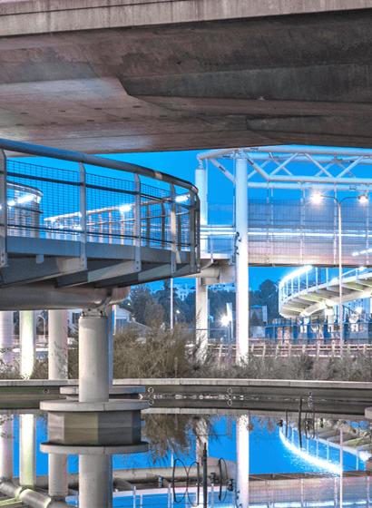 L'area laghetto sotto il viadotto dei Parchi