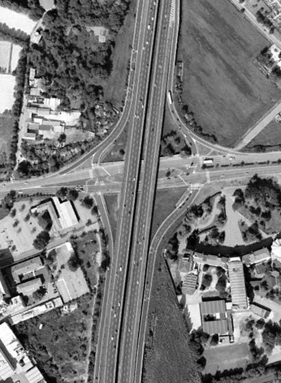 Foto aerea dello svincolo