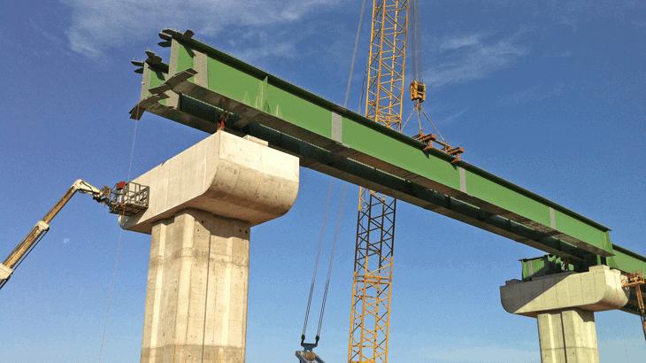 Il cantiere del viadotto VI03