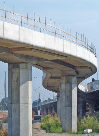Il viadotto Rampa D in corso lavori