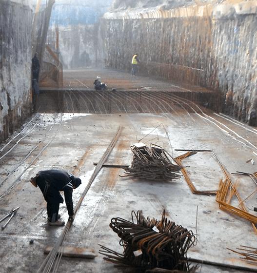 Le fasi di costruzione della Rampa A