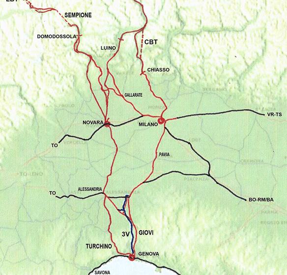 L'intermodale 24-rail: le linee merci del Corridoio Reno-Alpi in Italia