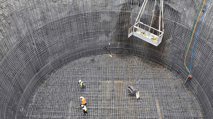 Il pozzo di fondazione dei piloni